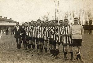 Italian football team Atalanta in season 1913-14