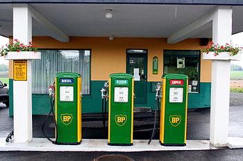 Old gasoline pumps, Norway