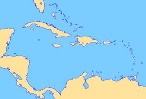 Vorlage Karibik/Mittelamerika, Blank Map Carib...