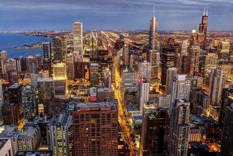 File:Chicago skyline, viewed from John Hancock Center.jpg