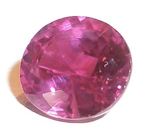 The red colour of rubies is from a small amoun...