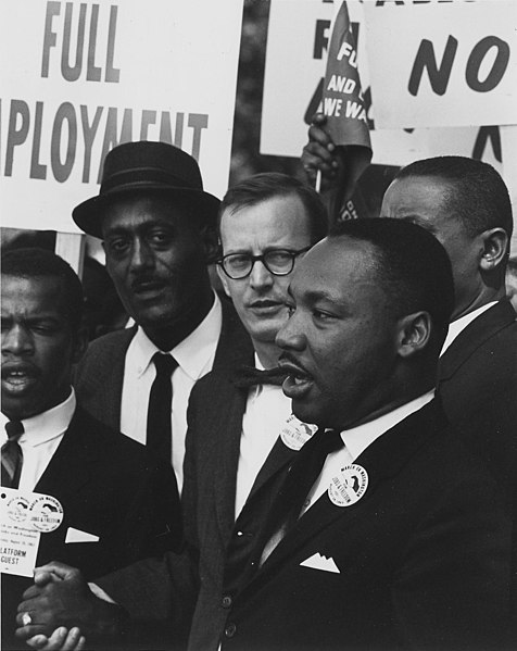 File:Dr. Martin Luther King Jr. at a civil rights march on Washington D.C. in 1963.jpg