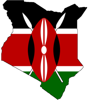 Flag-map of Kenya