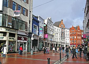 English: Grafton Street, Dublin, Ireland Franç...