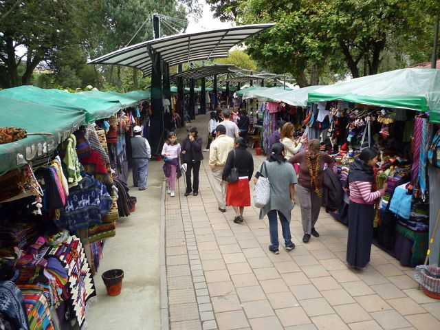 Hand Craft Market in Parque El Ejido Quito Ecuador