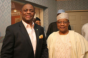 English: Chief Femi Fani-Kayode (Left) with fo...