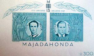 Mărci poştale din 1941 care îi comemorează pe ...