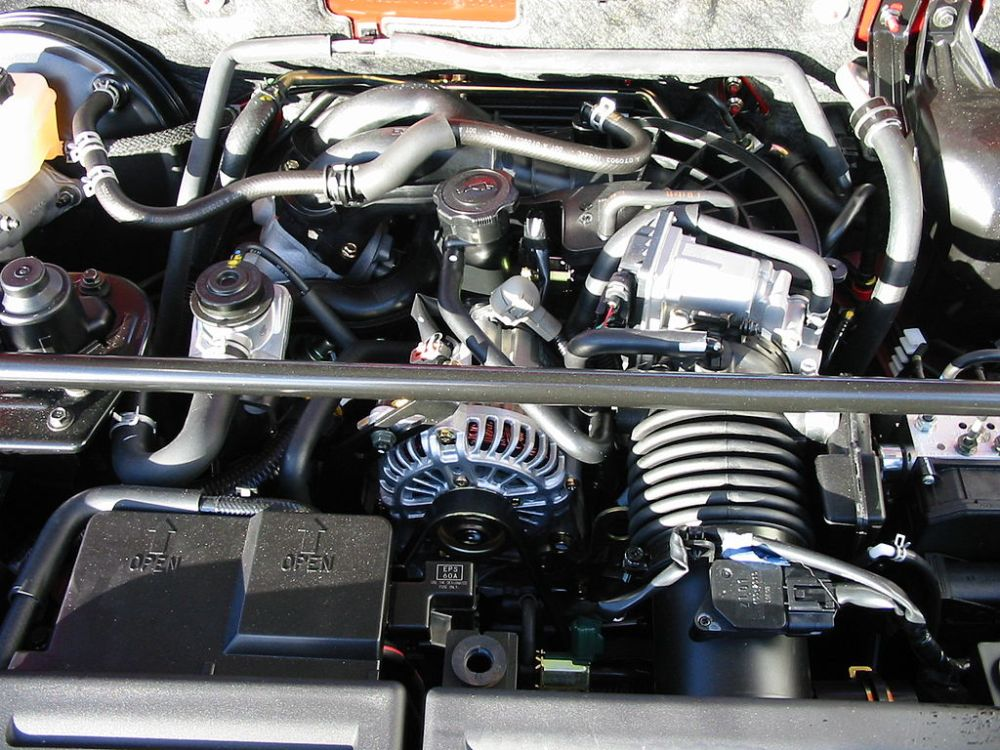 medium resolution of file mazda rx 8 engine bay with cover removed jpg 05 mazda rx 8 engine diagram mazda rx 8 engine diagram flywheel