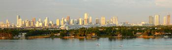 Downtown Miami skyline as seen from Miami Beac...