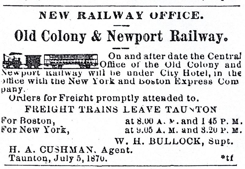 Old Colonial Railroad Ticket.