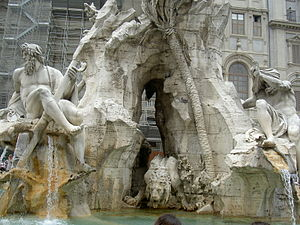 "The ""Fontana dei fiumi"" (Fountain of..."