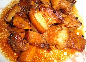 English: Filipino pork adobo