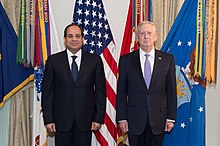 el-Sisi with Secretary of Defense James Mattis, in Washington, D.C., on 5 April 2017