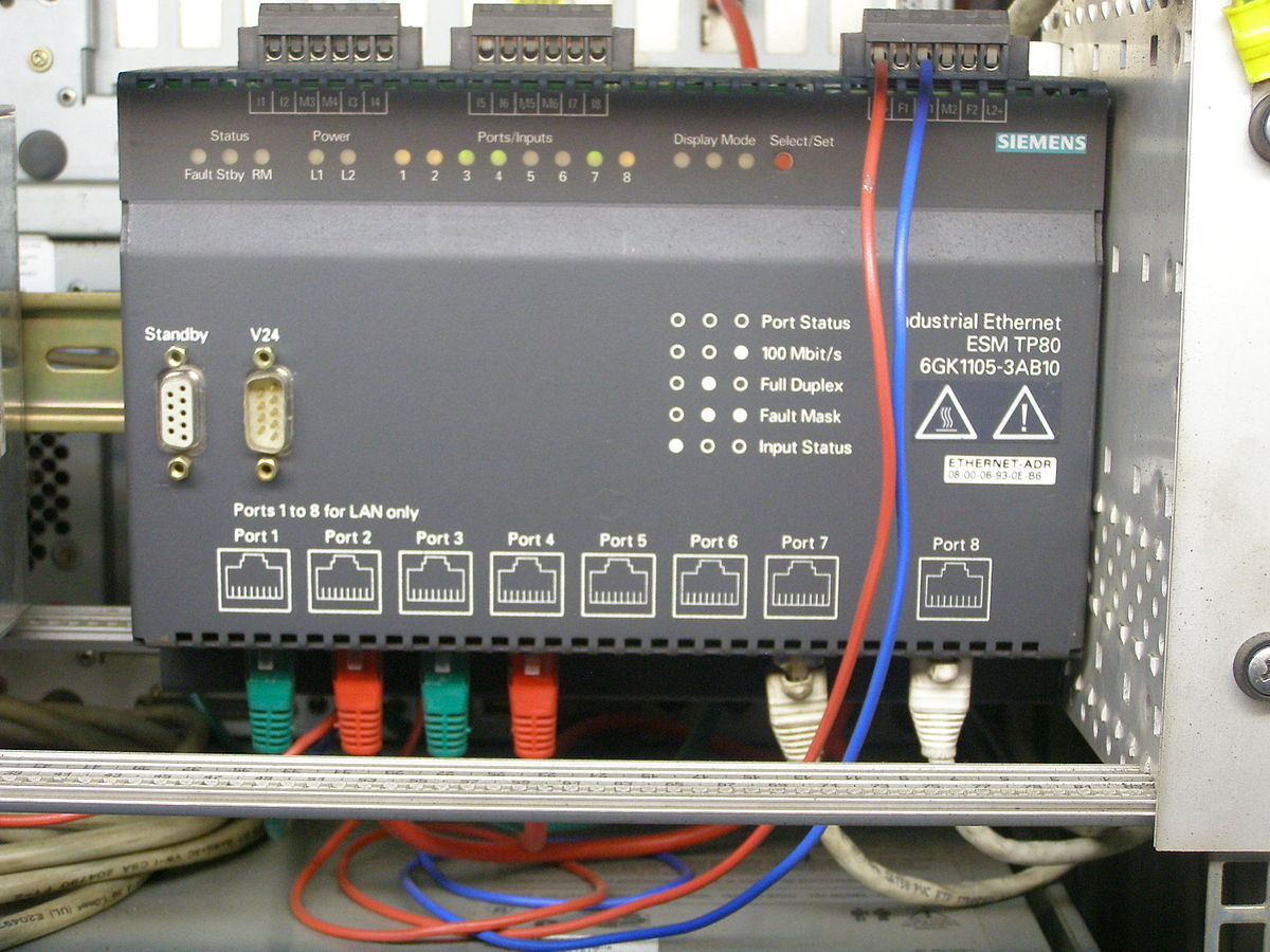 Network Connection Wiring Diagram Industrial Ethernet Wikipedia
