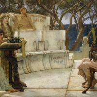 """Sappho and Alcaeus"" by Lawrence Alma-Tadema"