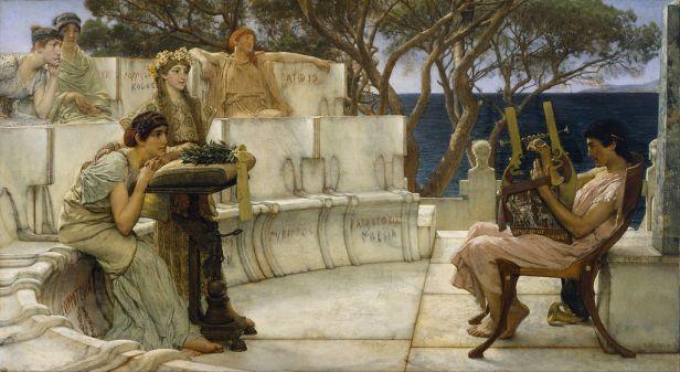 """Sappho and Alcaeus"" by Lawrence Alma-Tadema"
