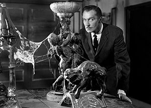 English: Vincent Price in House on Haunted Hil...