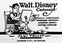 0561dec07f18e والت ديزني (1901-1966 ولد باسم والتر إليس ديزني)