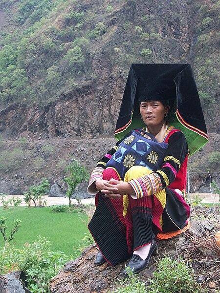 File:Yi woman in traditional dressing.jpg