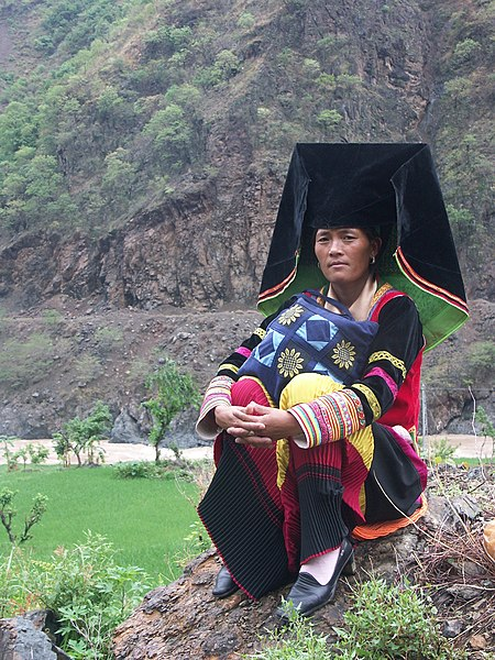 File:Yi woman in traditional dressing.jpg