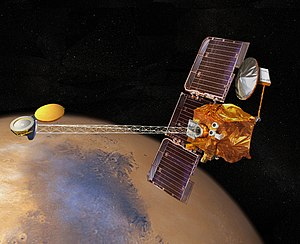 Artistic impression of the 2001 Mars Odyssey o...