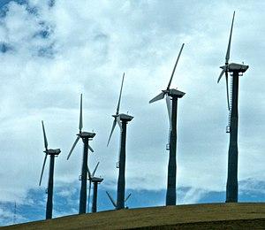 English: Wind turbines at Altamont Pass near L...
