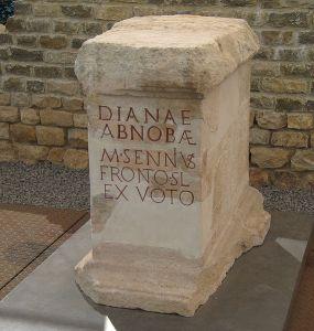 Altar of Diana Abnoba in the Roman bath ruin of Badenweiler. Badenweiler / Southern Black Forest / Germany