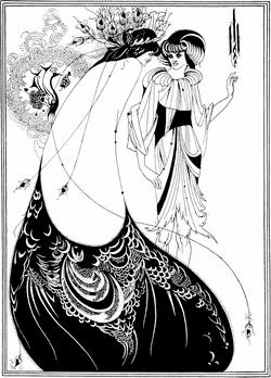 The Peacock Skirt, by Aubrey Beardsley, (1892).