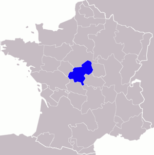 Map showing the location of the province of Be...