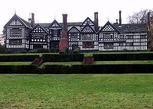 Bramall Hall, in the County of Greater Manchester.