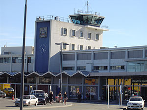 Front view of Christchurch International Airpo...