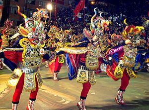 English: Diablada Ferroviaria in the Carnival ...
