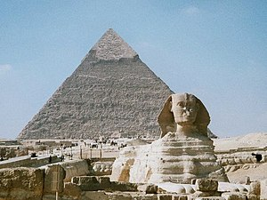 Great Sphinx of Giza and Khafre's Pyramid, Giz...