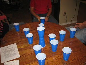 English: Zamboni (drinking game) set up
