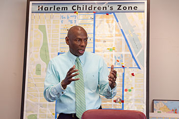 A photograph of educator Geoffrey Canada.