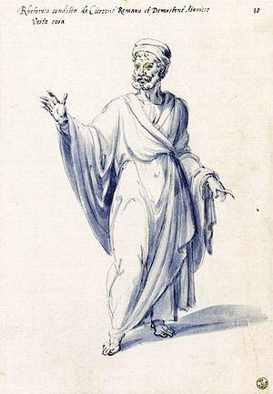 """Costume of the allegorical figure """"Rhetor..."""