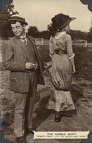 A postcard (circa 1911) depicting a man and a ...