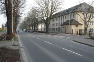 Bundespolizei an der Homburger Landstraße von ...