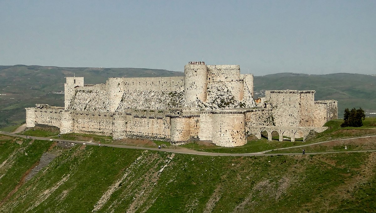 Image result for Krak des Chevaliers in Homs, Syrian Arab Republic