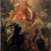 """Thor's Fight with the Giants"" by Mårten Eskil Winge"