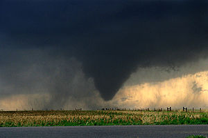 English: A tornado in Kansas on May 22, 2008