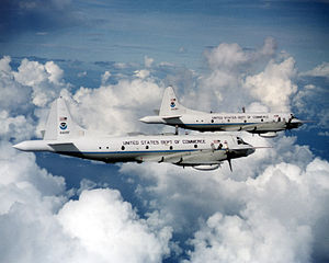 English: Two Lockheed WP-3D Orions of the U.S....