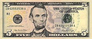 New five dollar bill debuts March 13, 2008.