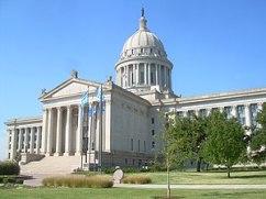 Oklahoma State Capitol in Oklahoma City.