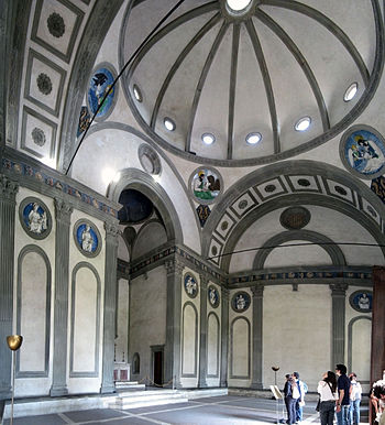 Interior of the Pazzi Chapel.