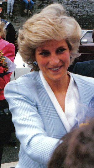 Princess Diana on a royal visit for the offici...
