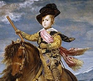 Español: Detalle del Príncipe Baltasar Carlos ...
