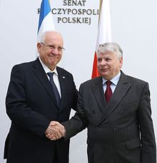 Reuven Rivlin with Bogdan Borusewicz during his official visit to Poland (2014)