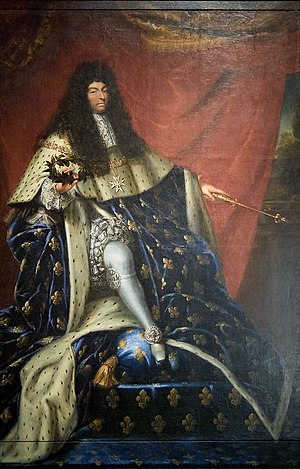 Louis XIV in 1685, the year he revoked the Edi...