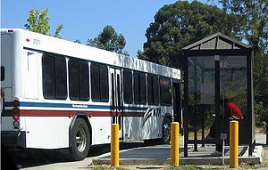 English: A Line 23 bus operated by the Santa C...